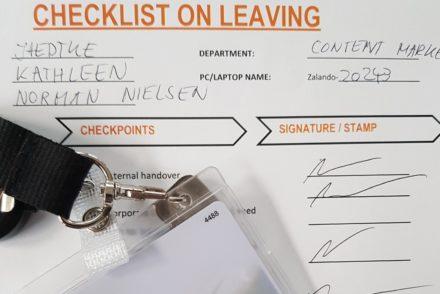Checkliste beim Verlassen des Unternehmens